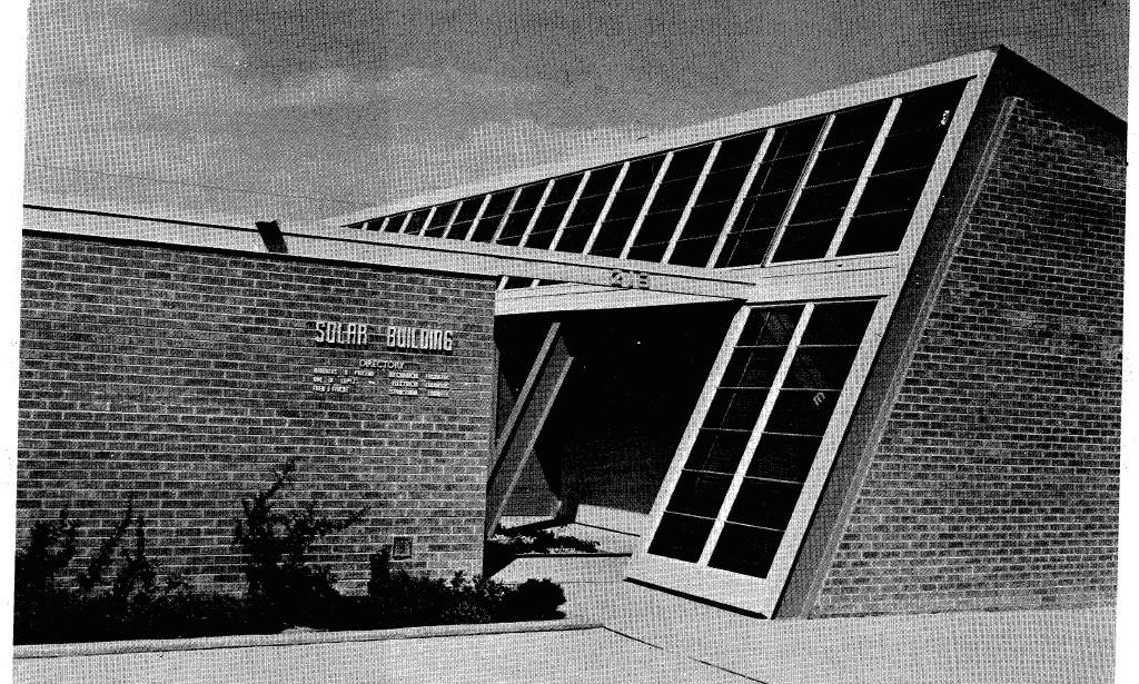 """8f0a78ea10626 Solar Building, ca. 1956. Source  """"213 Truman, N.E.,"""" ca. 1956, accessed  October 24, 2015,  http   www.earthalert.org B P%20Solar%20Building%20Brochures.pdf."""