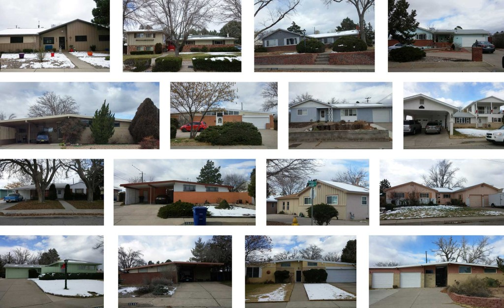 Figure 1. Mossman-Gladden Homes, Altamont and Stardust Skies, December 2015. Photographs by author.
